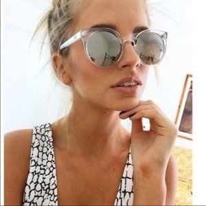 USED Quay clear with grey gradient sunglasses